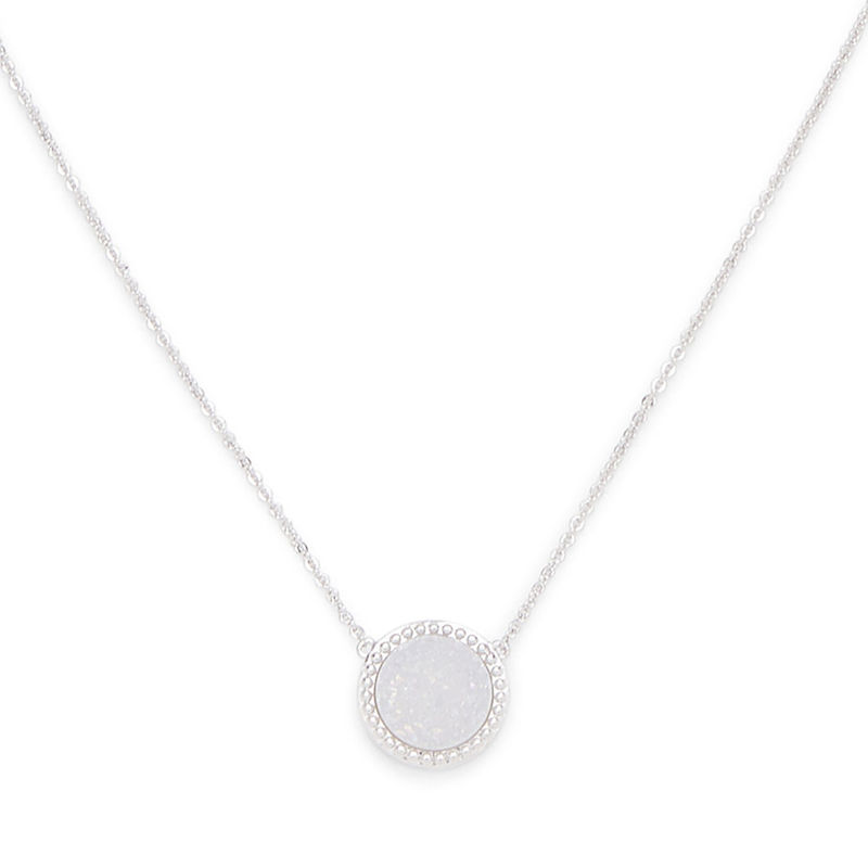 Ava Rose Cheyenne Necklace in Silver and Iridescent Druzy