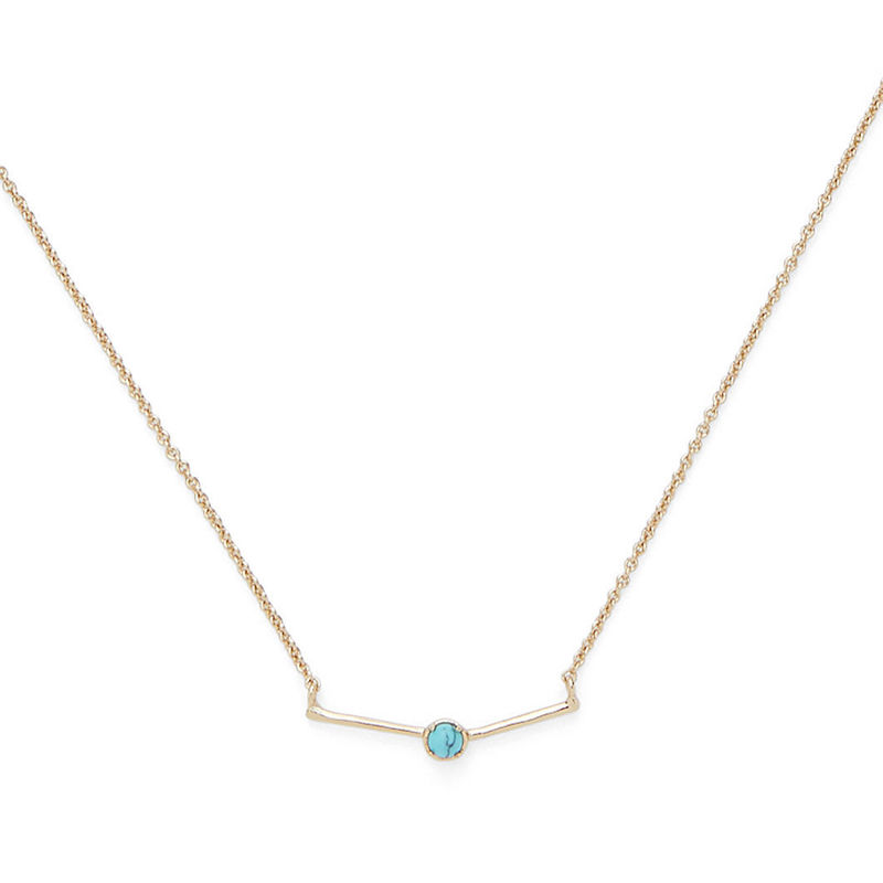 Sophie Harper Delicate Bar Pendant with Turquoise Stone