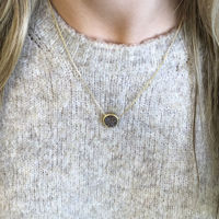 User Generated Content for Ava Rose Cheyenne Necklace in Silver with Platinum Druzy