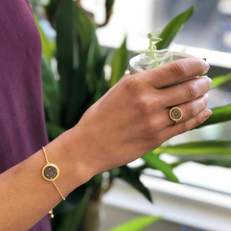 User Generated Content for Ava Rose Cheyenne Bracelet in Gold with Platinum Druzy
