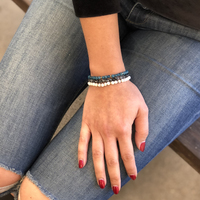 User Generated Content for Aster Petal Bracelet in Gold & Lavrakite