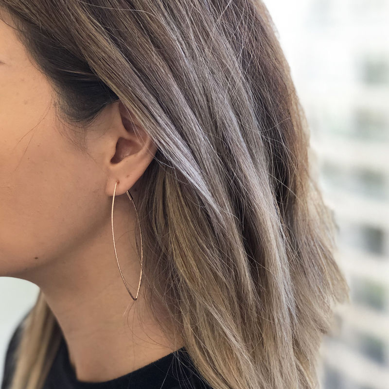 User Generated Content for SLATE Nadya Hoops in Rose Gold