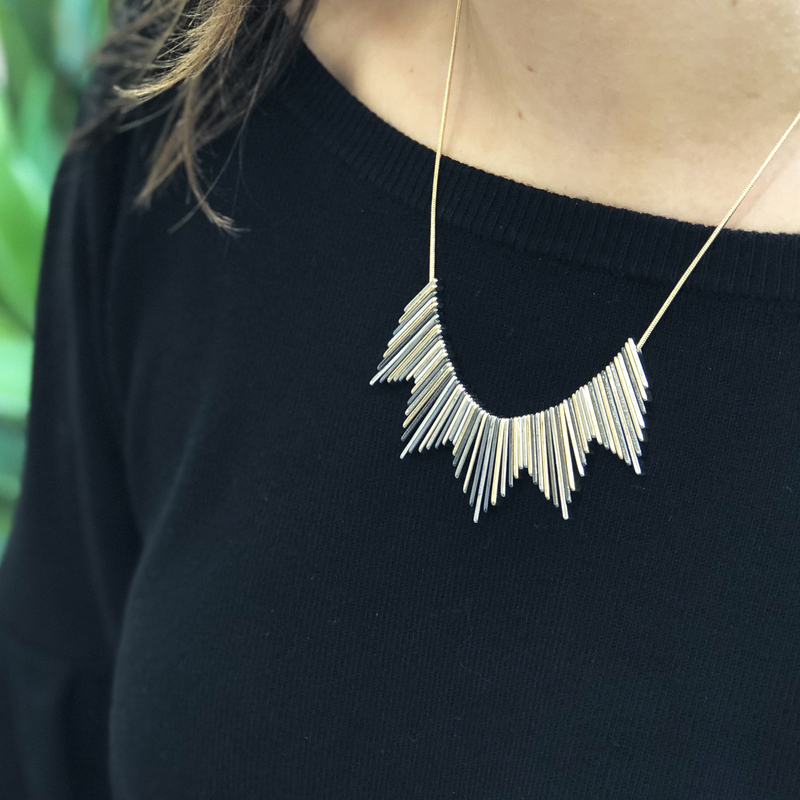 User Generated Content for SLATE Helios Necklace in Mixed Metal