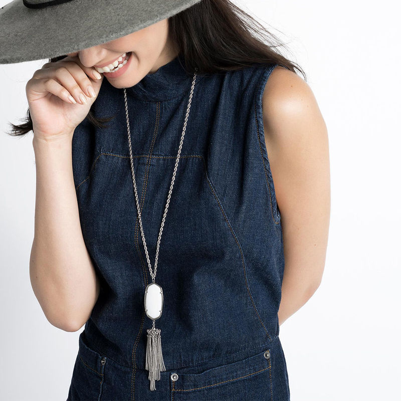 User Generated Content for Kendra Scott Rayne Silver Necklace in Black