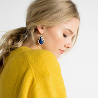 User Generated Content for Kendra Scott Alex Earrings in White Banded Agate