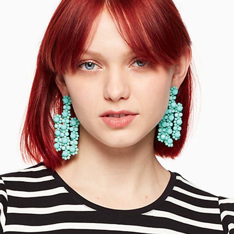 User Generated Content for Kate Spade The Bead Goes on Statement Earring in Turquoise