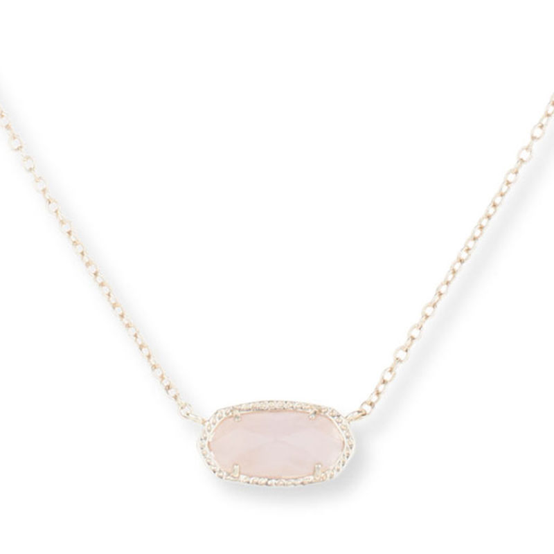 Kendra Scott Elisa Necklace in Rose Quartz
