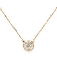 Model Content for Sophie Harper Pavé Disc Necklace in Gold