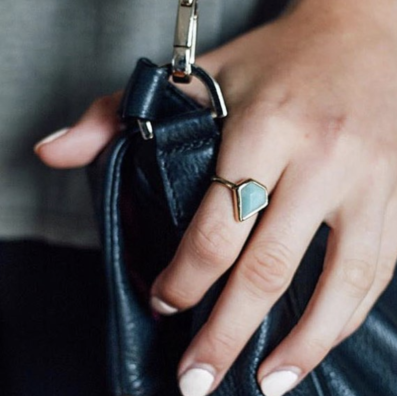 User Generated Content for Aster Camellia Ring in Labradorite