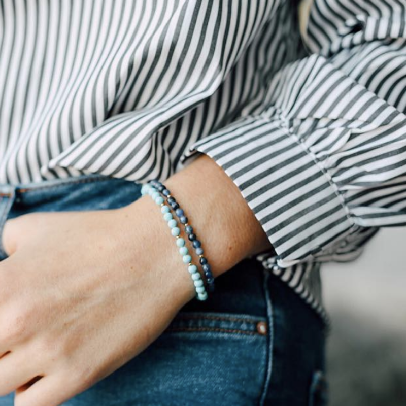 User Generated Content for Aster Fleur Bracelet in Snowflake Obsidian