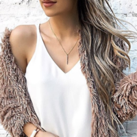 User Generated Content for Sophie Harper Vertical Baguette Necklace in Gold