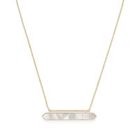 Model Content for Ava Rose Tyler Pendant in Gold and Mother of Pearl