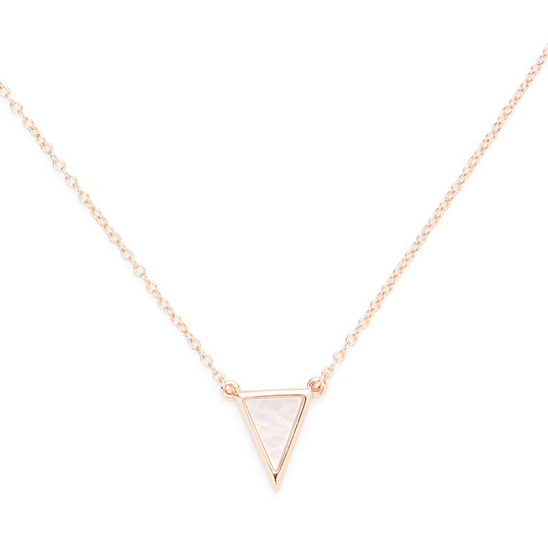 Aster Kerria Pendant in Rose Gold and Mother of Pearl