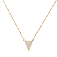 Model Content for Aster Kerria Pendant in Gold and Mother of Pearl