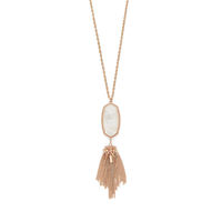 Model Content for Kendra Scott Rayne Necklace in Rose Gold Ivory Pearl