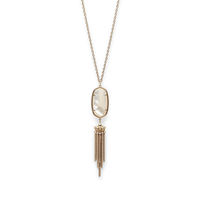 Model Content for Kendra Scott Rayne Necklace in Ivory Pearl