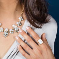 User Generated Content for Ava Rose Aspen Cocktail Ring in Gold and Mother of Pearl