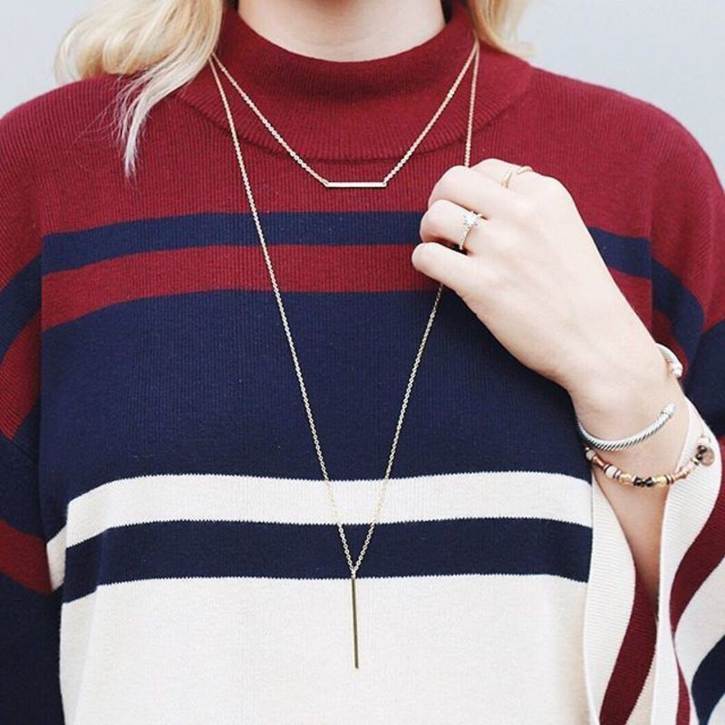 User Generated Content for Sophie Harper Bar Layer Necklace in Silver