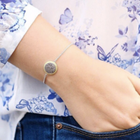 User Generated Content for Ava Rose Cheyenne Bracelet in Silver and Platinum Druzy