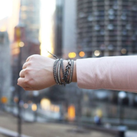 User Generated Content for Nakamol Fringe Wrap Bracelet in Silver and Hematite
