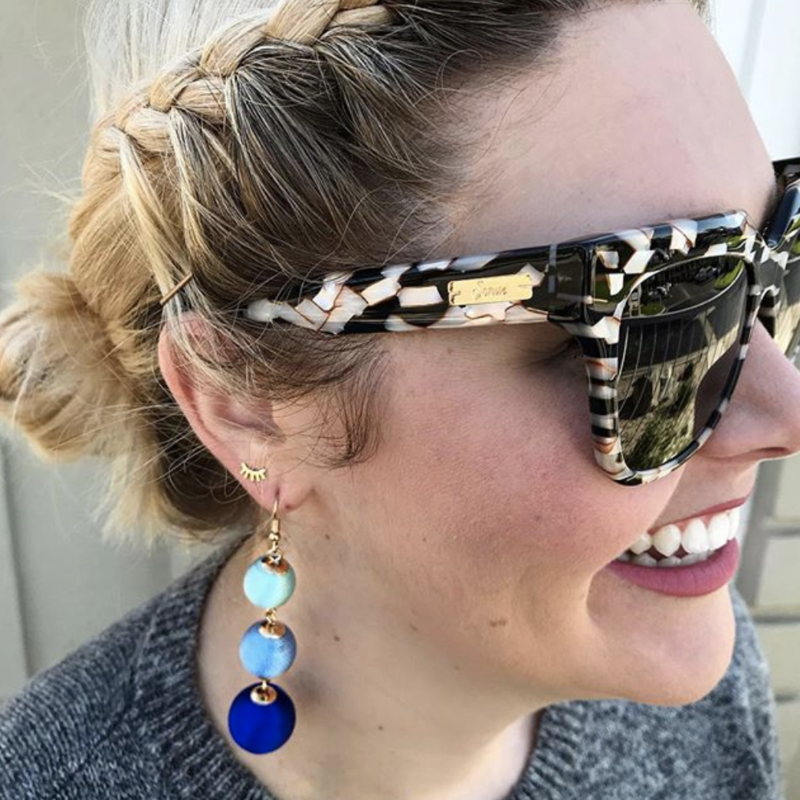 User Generated Content for Perry Street Piper Drops in Blue Ombré