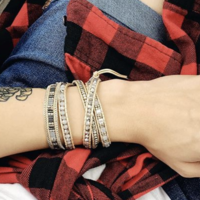 User Generated Content for Nakamol Beaded Leather Wrap Bracelet in Silver & Cream
