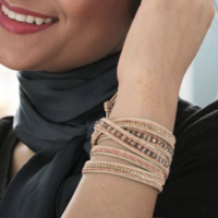 User Generated Content for Nakamol Rose Gold and Gold Wrap Bracelet