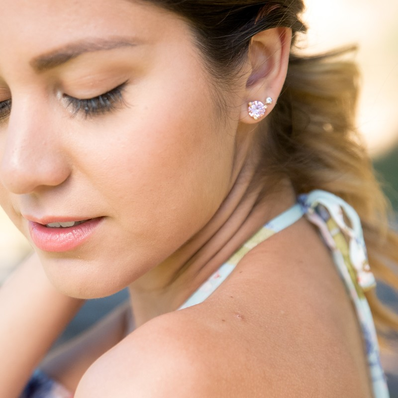 User Generated Content for Kate Spade Rise and Shine Small Studs in Aquamarine