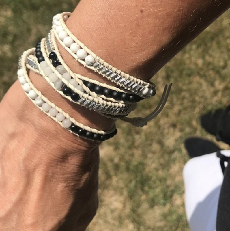User Generated Content for Nakamol Mixed Crystals Gray and White Wrap Bracelet