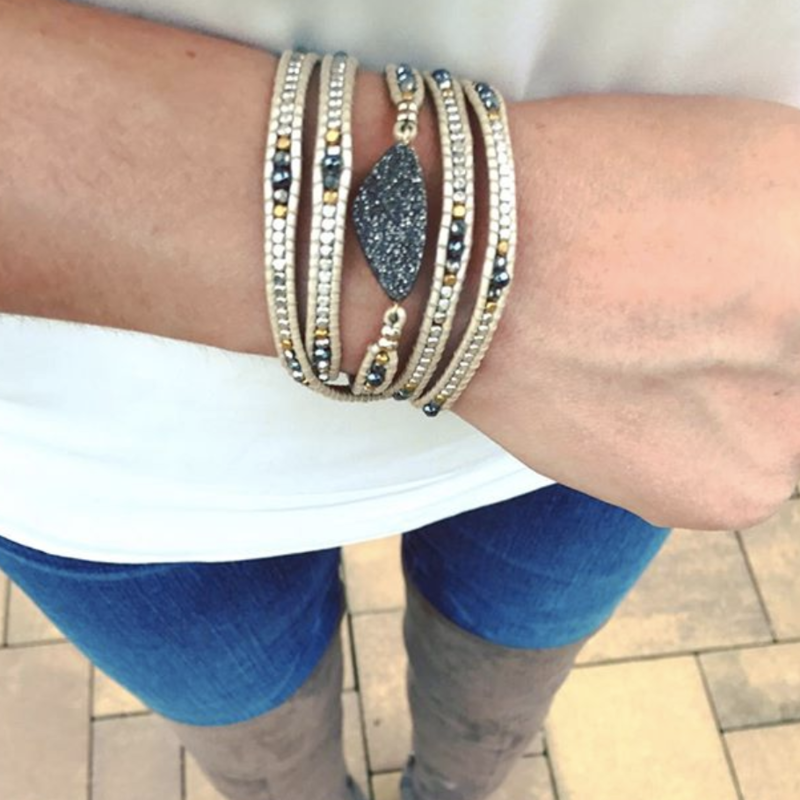 User Generated Content for Nakamol Metallic Druzy Wrap Bracelet