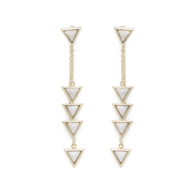 User Generated Content for SLATE Storm Drops in Gold & White Howlite