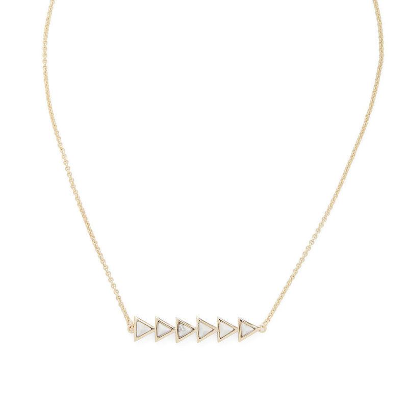 SLATE Rylo Pendant in Gold & White Howlite