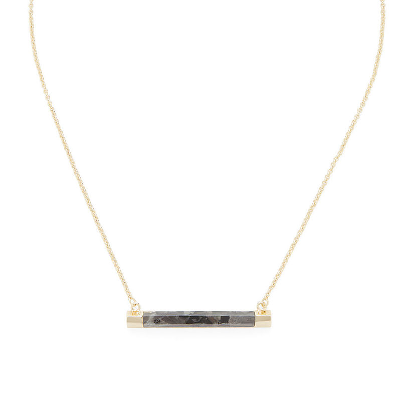 SLATE Sal Bar Pendant in Gold & Lavrakite