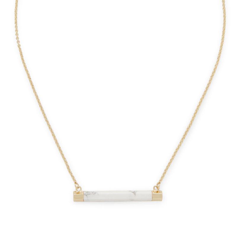 SLATE Sal Bar Pendant in Gold & White Howlite