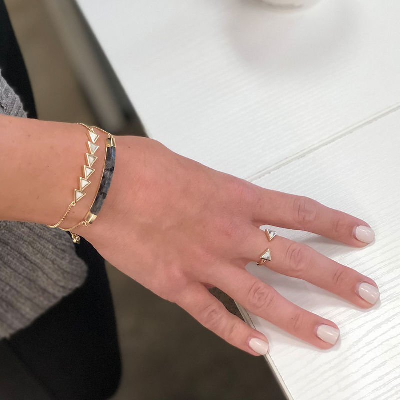 User Generated Content for SLATE Sylvie Ring in Gold & White Howlite