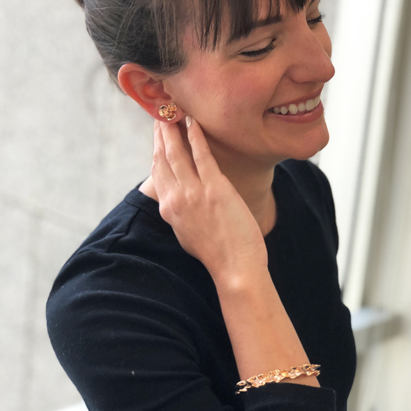User Generated Content for Kate Spade Frilled to Pieces Mini Studs in Rose Gold
