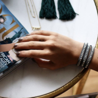 User Generated Content for Nakamol Gunmetal and Silver Wrap Bracelet