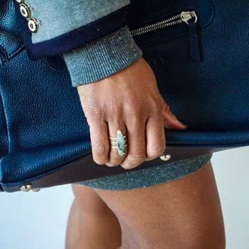 User Generated Content for Ava Rose Chandler Ring in Gold and Labradorite