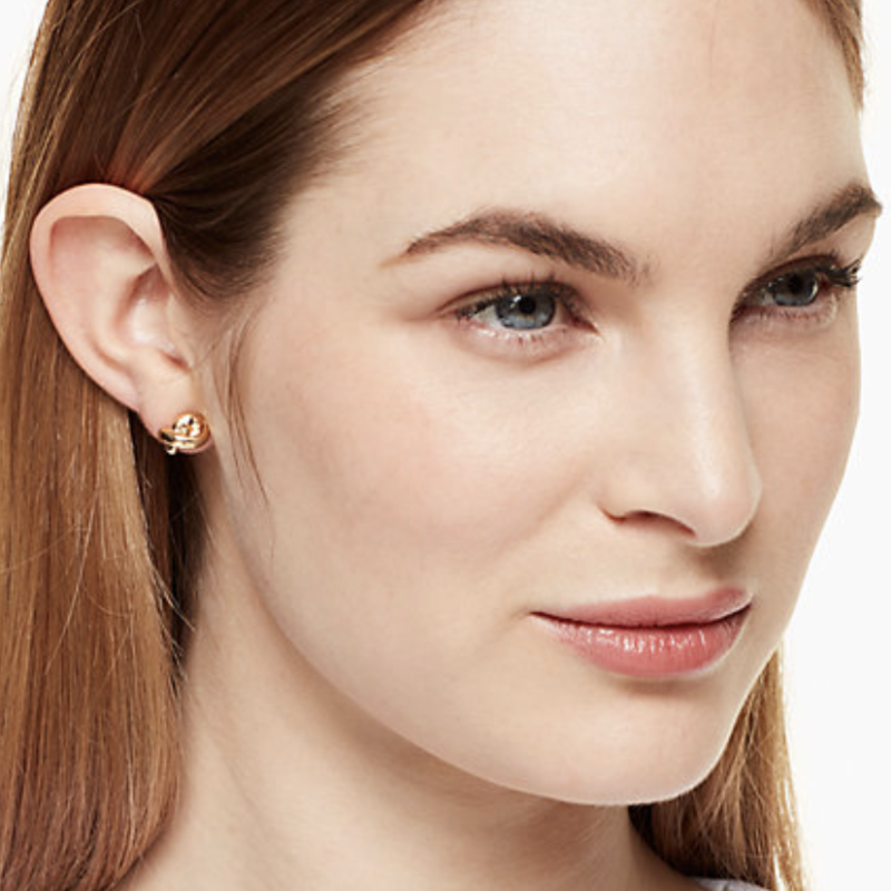 User Generated Content for Kate Spade Sailor Knot Studs in Gold