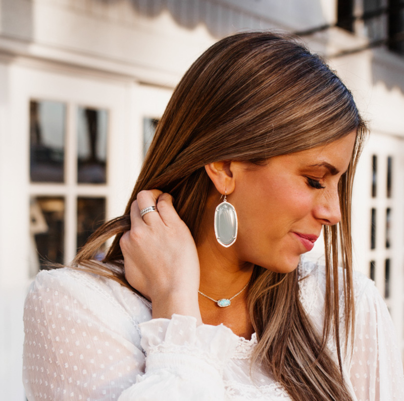User Generated Content for Kendra Scott Elisa Necklace in Gold White Kyocera Opal