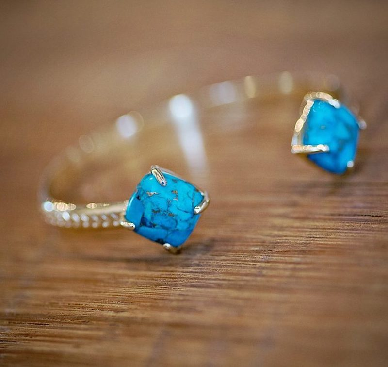 User Generated Content for Ava Rose Berkeley Cuff in Gold and Copper Turquoise