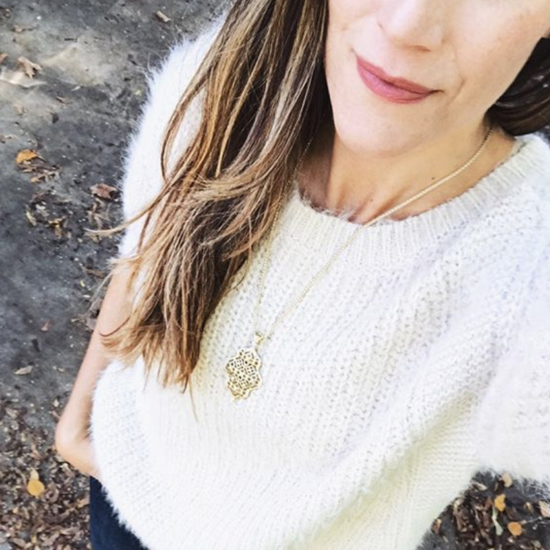 User Generated Content for Kendra Scott Kathy Adjustable Necklace in Gold with Pavé