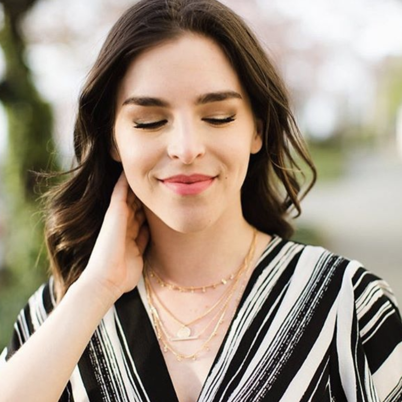 User Generated Content for Sophie Harper Layered Charm Necklace in Gold