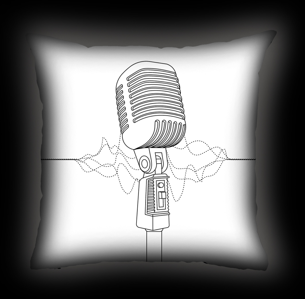 Almofada Bia Lombardi - Solta a Voz - Branca