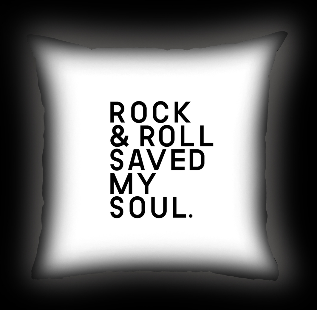Almofada Rock Use - Rock & Roll Saved My Soul - Branca