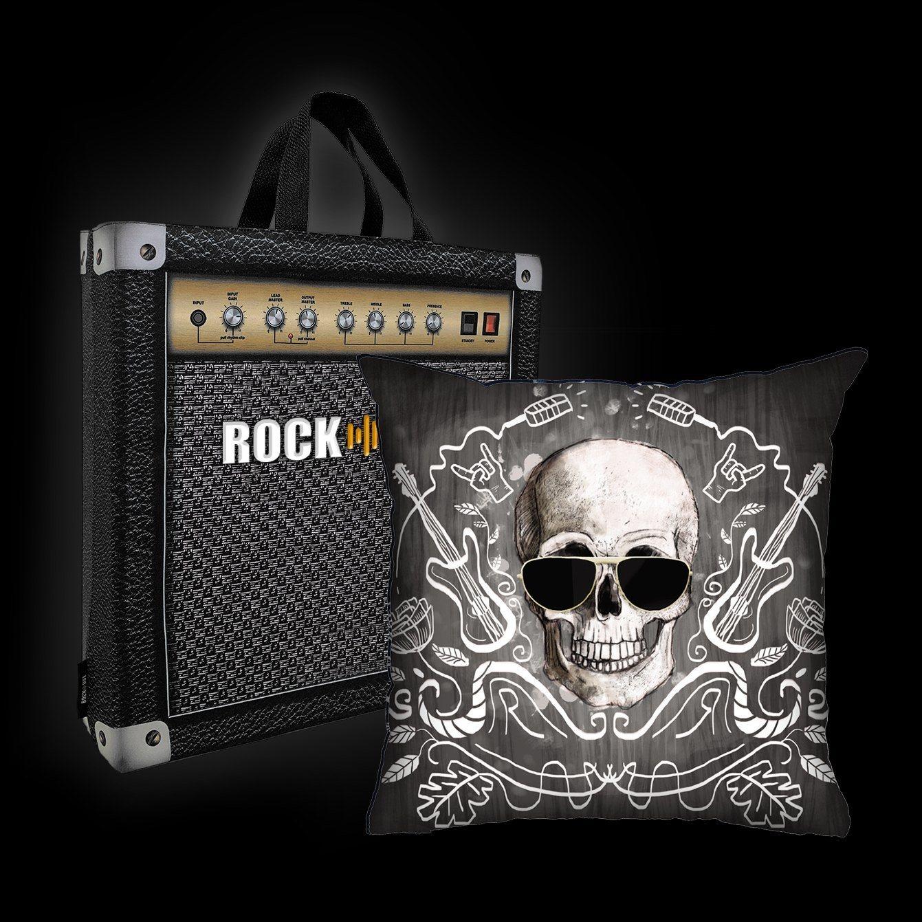 Kit Almofada & Sacola Ale Graziani - I Love Rock N'Roll - Preta