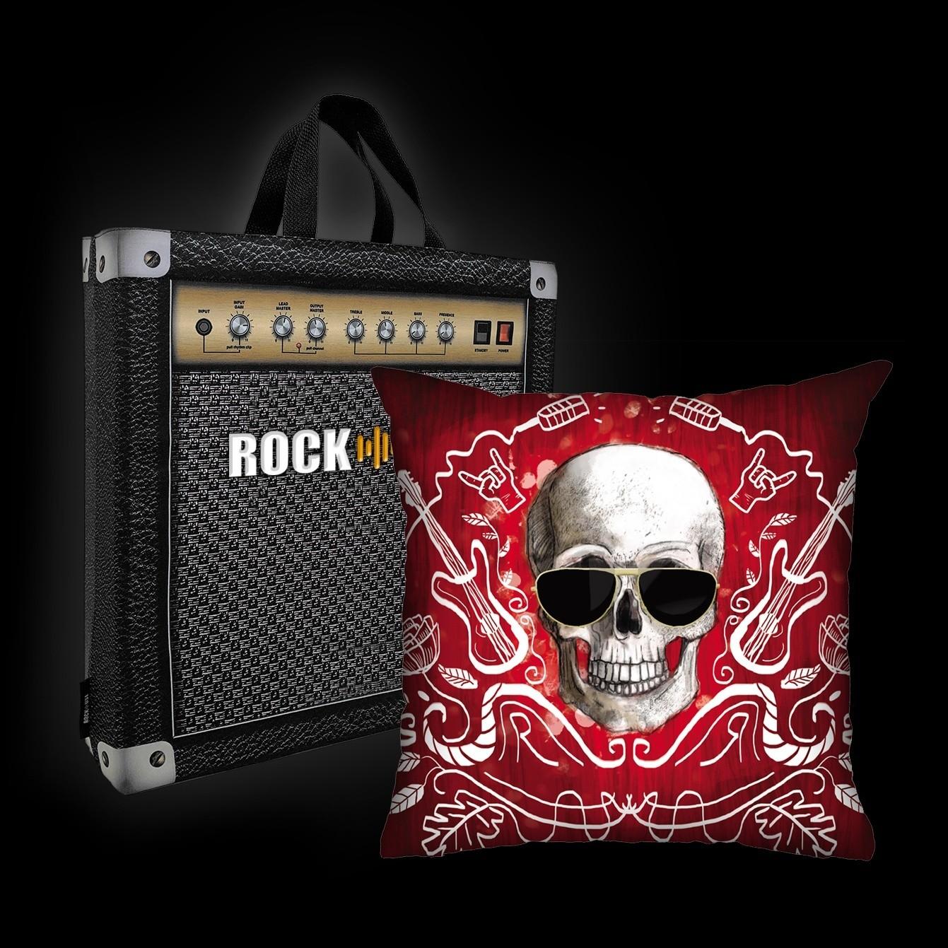 Kit Almofada & Sacola Ale Graziani - I Love Rock N'Roll - Vermelha