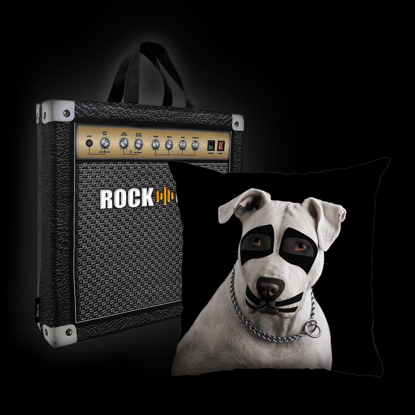 Kit Almofada & Sacola Luiz Conti -Pit Bull Terrier Kiss