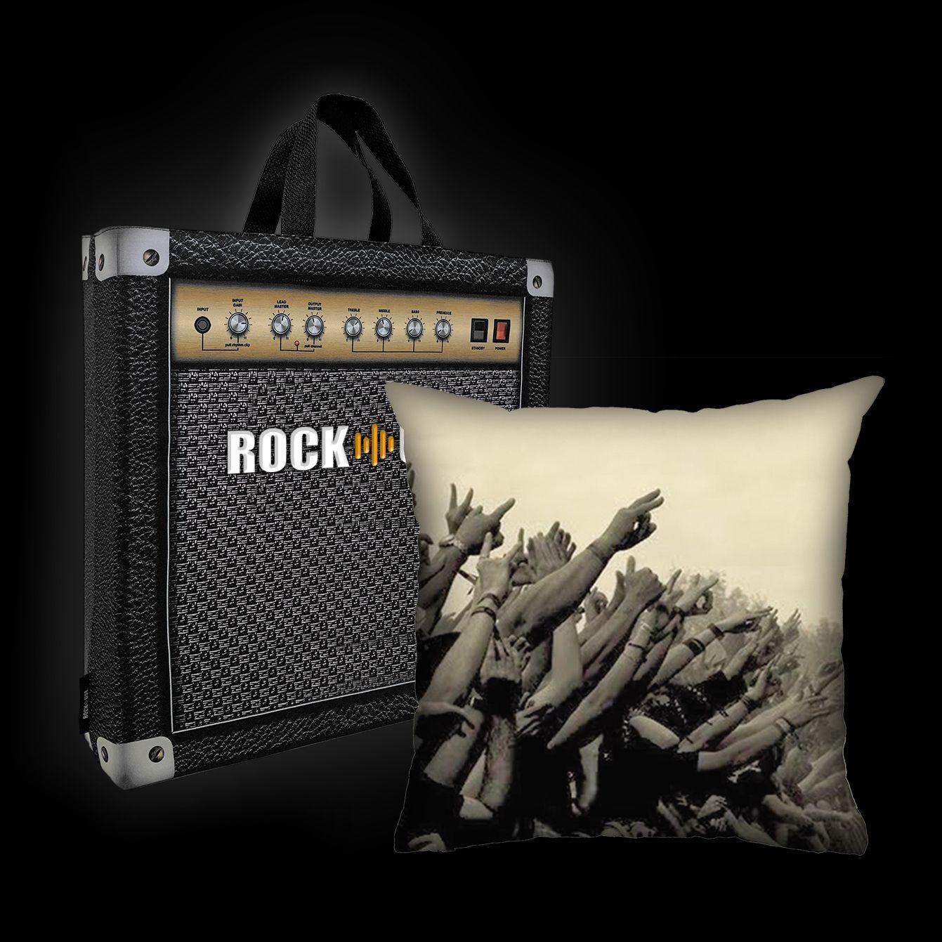 Kit Almofada & Sacola Rock Use - Rock Vibe