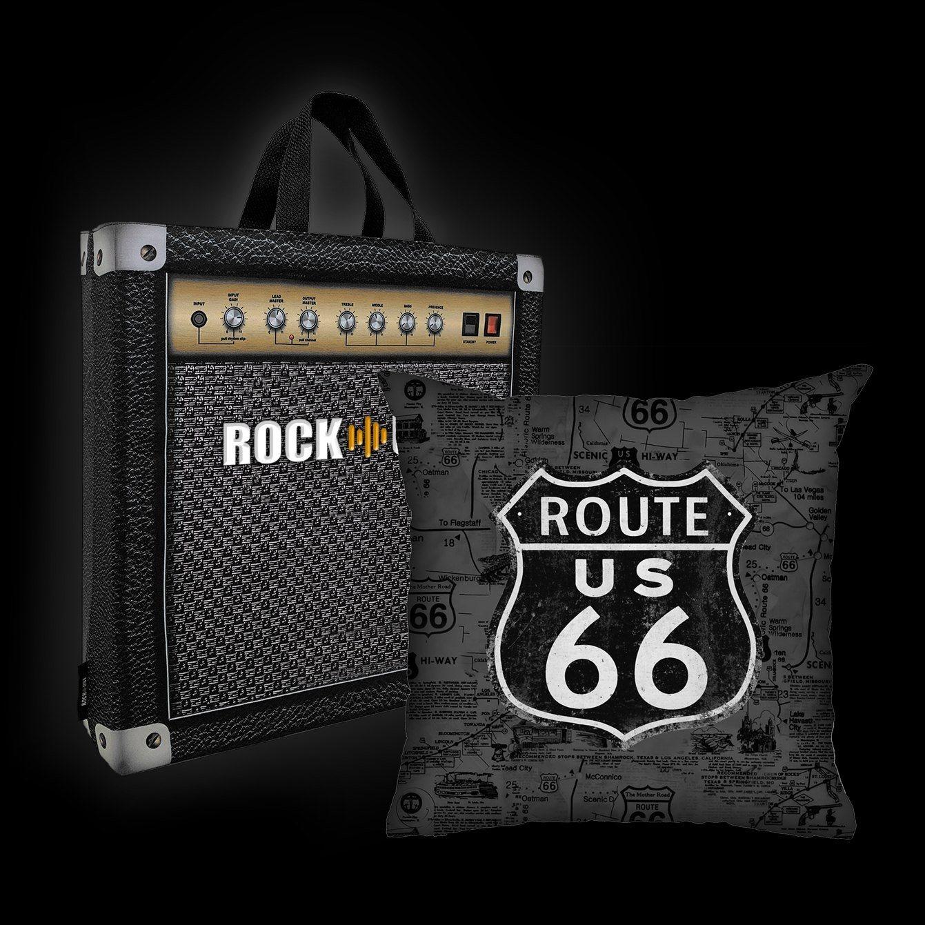 Kit Almofada & Sacola Rock Use - Route 66 - Cinza